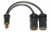 PAC-028 Powerlet Plug To Two Cigarette Sockets Cables