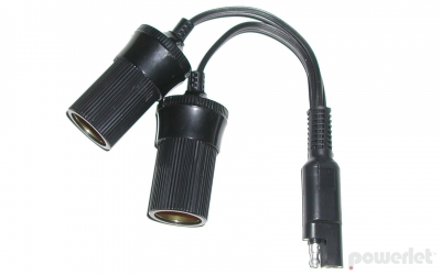 PAC-030 SAE To Dual Cigarette Socket Y Cable