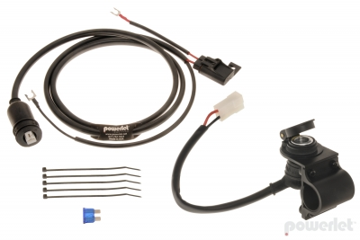 "Bar Mount Powerlet Socket Kit. 24"" Harness"