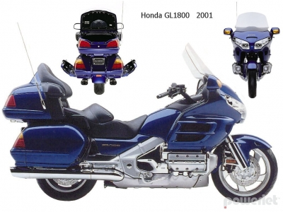 Honda GL1800 Goldwing 2001 GL-1800 2002 2003 2004 2005